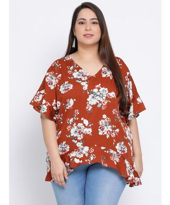 Floral Merry Plus Size Women Tunic