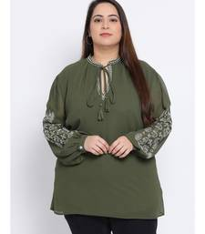 Slime Passion Embroidered Plus Size Women Tunic