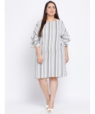 Stripe Melodrama Plus Size Women Dress