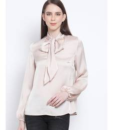 Shimmer Besotted Style Collar Women Tie Top