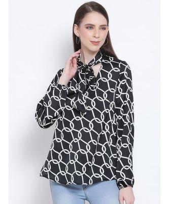 Block Chain Belfort Style Collar Women Tie Top