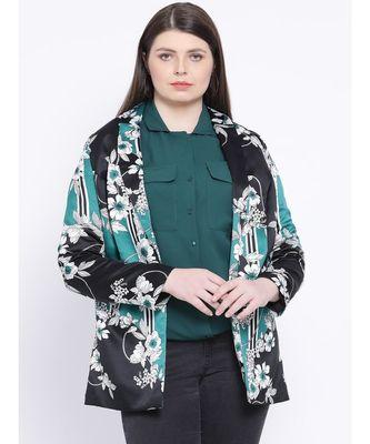 Floral Patrick Women Plus Size Blazer