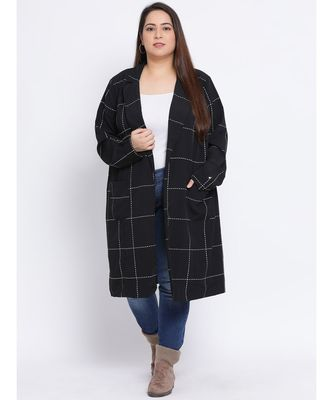 Plaid Definition Plus Size Women Blazer