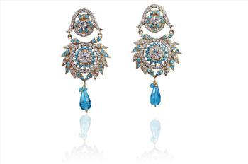 Hot indian Fashion elegant square Crystal Rhineston Earrings