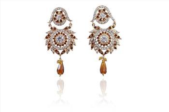 Fashion sweet crystal Rhinestone Certin earrings