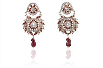 Fashion women Vintage  Maroon Earrings