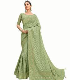 Bridal Designer party wear Heavy embroidery border work  attractive chikankari saree
