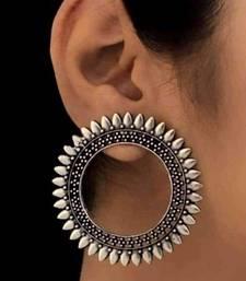 Designer Oxidised Silver Plated Eqyptian Tribal inspired Earrings