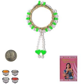 Jodhpuri Design Handcrafted Lumba Rakhi Pair Gift