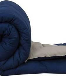 Sethi Fashion Solid King Size Bed Comforter Blue & Grey