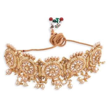 Gold Plated Designer Choker Necklace Set