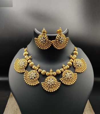 South Indian Traditional Necklace Set