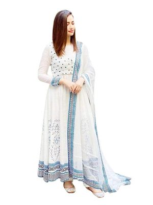 Women Printed Kurti with Dupatta for Party Rayon Maxi Dress one Piece Gown for Women