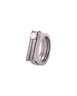Designer Inspired Black Rhodium Plated Ring