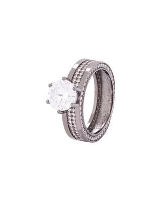 CZ Gem Embellished Band Ring