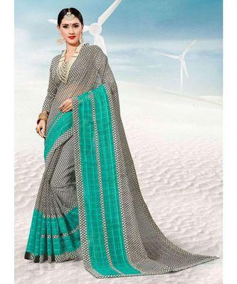 Sangam Prints Grey Kota Thread Work Traditional Saree