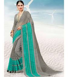 Sangam Prints Grey Kota Thread Work Traditional Saree