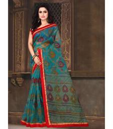 Sangam Prints Sea Green Kota Printed Traditional Saree