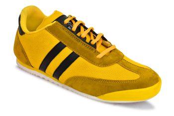 Weiler Men's Yellow Mesh Sneaker Casual Shoes