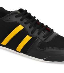Weiler Men's Black Mesh Sneaker Casual Shoes