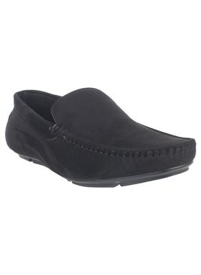 Vardhra Men's Black Suede Leather Outdoor Casual Loafer