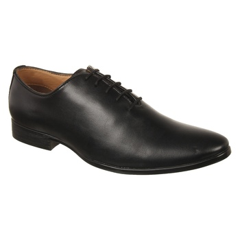 Vardhra Men's Black Synthetic Leather Party Derby Formal Shoes