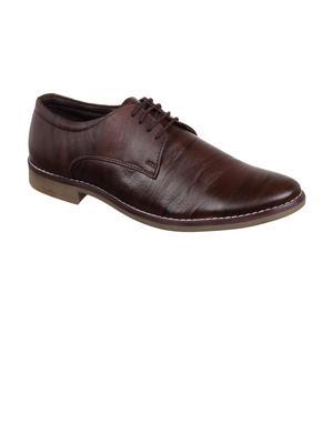 Vardhra Men's Brown Genuine Leather Casual Sneaker Casual Shoes