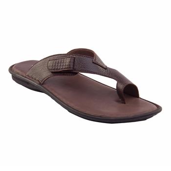 Vardhra Men's Brown Genuine Leather Outdoor Casual Sandal