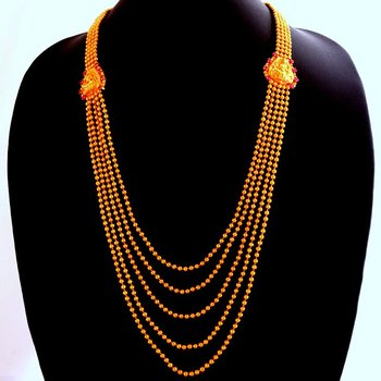 Laxmi necklace-146(temple jewellery)
