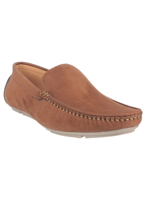 Vardhra Men's Tan Suede Leather Outdoor Casual Loafer