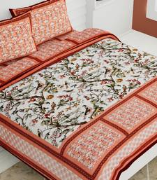 Multicolor Handmade Double Bed and  Cotton Bed sheet  With 2 Pillow Cover