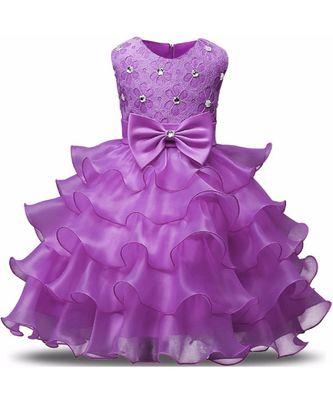 MANNAT FASHION Ployester Baby Girl Birthday Dress