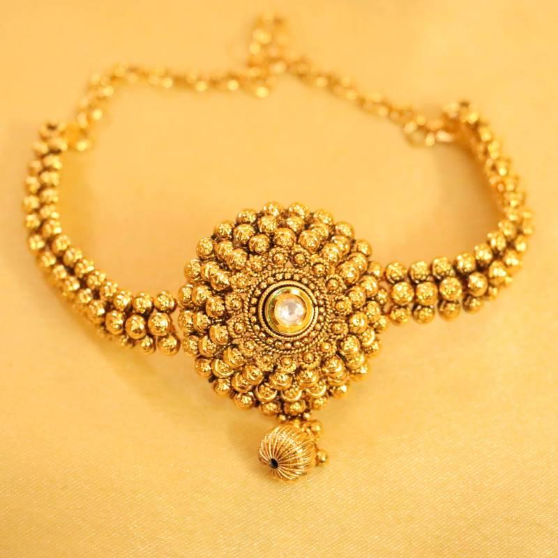 Buy Antique Gold Kundan Bajuband Online