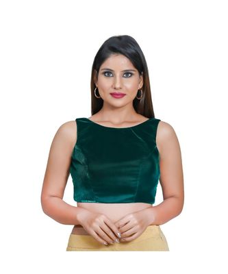 Muhenera Women's Velvet Sleeveless Saree Blouse