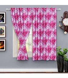 A Violet Printed  Polyester Window Curtain