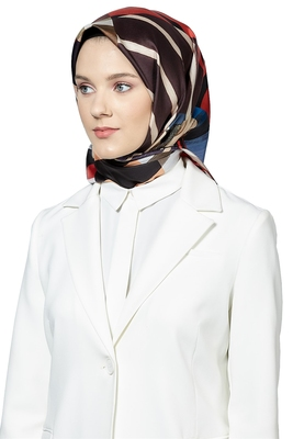 JSDC Women's Modest Wear Crepe Silk Printed Square Hijab Scarf Dupatta