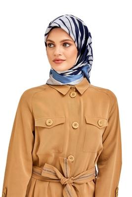 JSDC Women's Islamic Wear Crepe Silk Printed Square Scarf Hijab