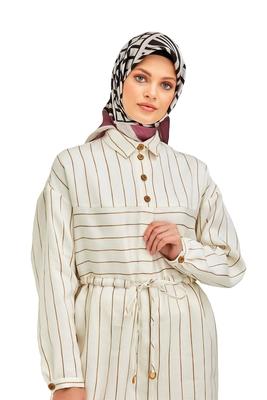 JSDC Women's Casual Wear Crepe Silk Zebra Print Square Scarf Hijab Dupatta