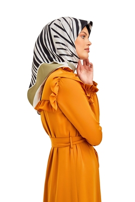 JSDC Women's Crepe Silk Animal Print Square Scarf Hijab Stole