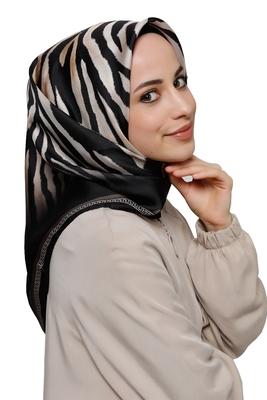JSDC Women's Outdoor Wear Crepe Silk Zebra Printed Scarf Hijab Dupatta