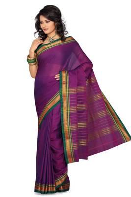 ISHIN Cotton Purple Saree Sonali