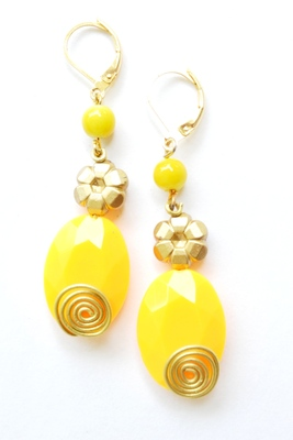Acrylic Bead Earrings