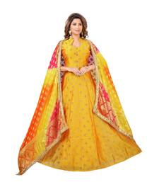 YELLOW GEORGETTE  LAGGING