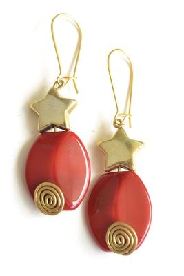 Semi-precious Agates Stone Earrings