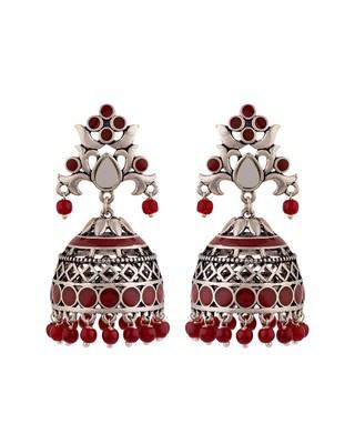 Rangabati Cutwork and Beads Earrings