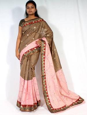 Designer Fancy Handwork  Saree