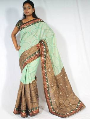 Designer Fancy Handwork  Saree