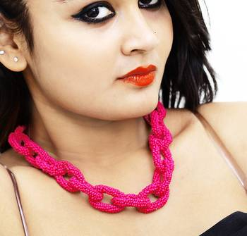 Chain Link Beaded Necklace