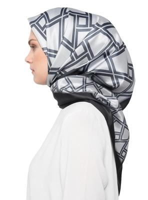 JSDC Women's Silk Crepe Square Printed Hijab Stole Dupatta
