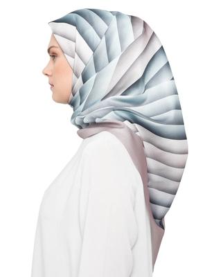 JSDC Women's Casual Wear Crepe Silk Printed Square Hijab Scarf Dupatta